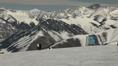 Winter Ski Resort 4928 Stock Footage