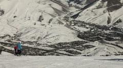 Winter Ski Resort 4937 Stock Footage