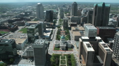 St Louis Downtown Arch View Stock Footage