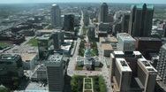 Stock Video Footage of St Louis Downtown Arch View
