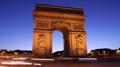 Arc de Triomphe, Paris Stock Footage