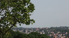 City view from top of a hill, HD Stock Footage