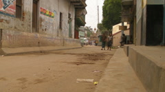 Bangladeshi Village Street - stock footage