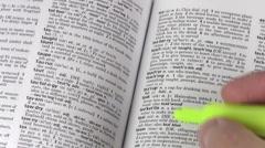 Dictionary terms TEACH V2 - HD Stock Footage