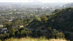 Runyon Canyon and West LA HD Stock Footage