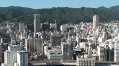 Aerial view from Kobe Tower Stock Footage