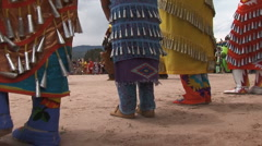 Native American Powwow Dancers Female - stock footage