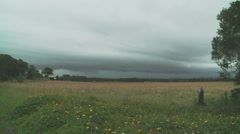 Storm rolling in Stock Footage