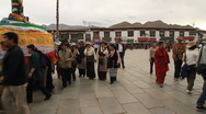 Stock Video Footage of Tibet religious pilgrims