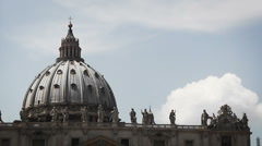 St. Peter's Basilica, Vatican - Time Lapse, HD1080 - stock footage