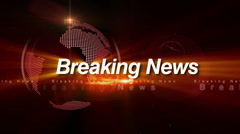 Breaking news broadcast design ( RED-BLUE-GREEN-ORANGE Series ) Stock Footage
