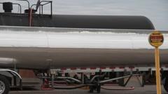 oil tanker train, truck - stock footage