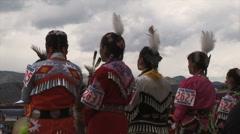 Native American Powwow Dancers Standing Stock Footage