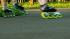 HD - Roller Skates - stock footage