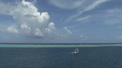 Stock Video Footage of Raiatea sailboat inside the reef 2