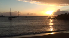 Caribbean Sunset Stock Footage