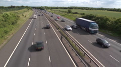 Busy motorway time lapse traffic, M40 Stock Footage