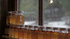 Maple Syrup Samples Stock Footage