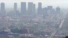 West LA and Pacific Design Center in WeHo HD Stock Footage