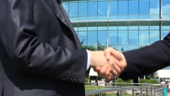 Business handshake - stock footage
