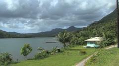 Stock Video Footage of Raiatea house by longest river