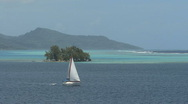 Stock Video Footage of Raiatea sailboat in lagoon 2