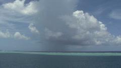 Raiatea time lapse rain on the reef Stock Footage