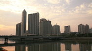 Stock Video Footage of Guangzhou Pearl River Scene at Sunset