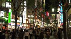 Tokyo street night - no snd - stock footage