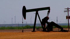 Oil Well in West Texas - Multiple Shots Stock Footage