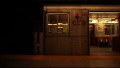 Subway train departs , Toronto, Canada Stock Footage