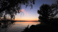 River Sunset. Stock Footage