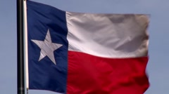Texas State Flag HD - stock footage