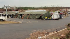Shelters Used After Tornado (HD) c Stock Footage