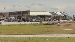 Destroyed Buildings After Tornado (HD) c Stock Footage