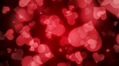 Hearts Falling 2 Stock Footage
