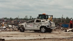 Machinery Used For Clean Up After Tornado Disaster (HD) c - stock footage
