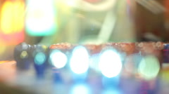 Abstract of lights on arcade game blinking Stock Footage
