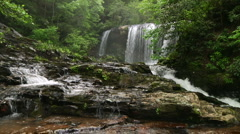 Stream and Waterfall 03 Stock Footage