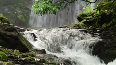 Stream and Waterfall 04 Stock Footage