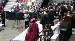 Graduation ceremony Stock Footage