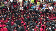 Stock Video Footage of Graduation ceremony