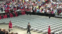 Students entering Graduation ceremony Stock Footage