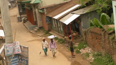 Third World Village Street - stock footage
