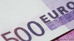 Denomination for banknote five hundred euros, rotate Stock Footage