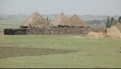 Village Ethiopia 1 Stock Footage