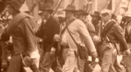 Stock Video Footage of CONFEDERATE REBEL SOLDIERS American Civil War 1860s (Vintage Film Home Movie)