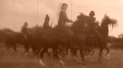 CAVALRY CHARGE! American Civil War BATTLE 1864 Vintage Film Home Movie Stock Footage