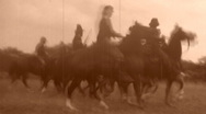 Stock Video Footage of CAVALRY CHARGE! American Civil War BATTLE 1864 Vintage Film Home Movie