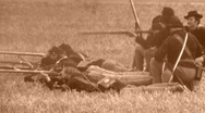 Stock Video Footage of UNION TROOPS INFANTRY Aiming Gun American Civil War 1864 Vintage Film Movie